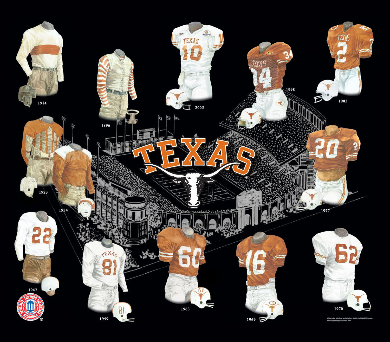 University Of Texas Longhorns Football Uniform And Team History