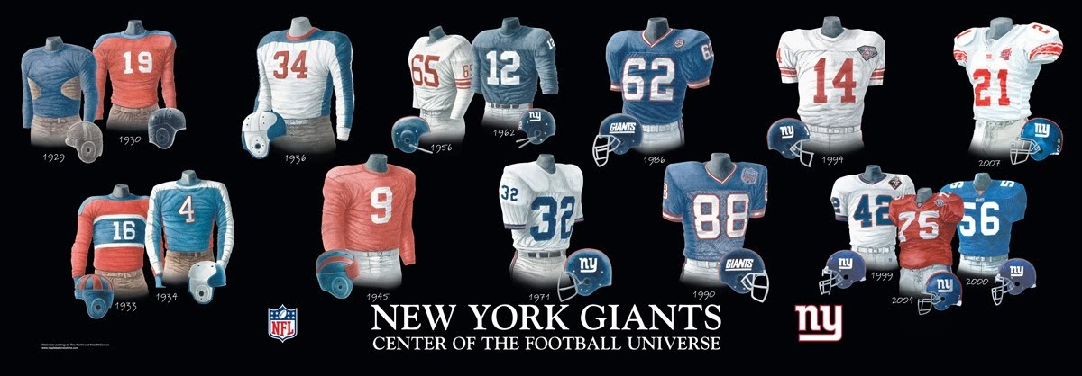 New York Giants Uniform And Team History Heritage