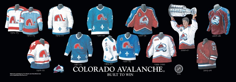 Colorado Avalanche Sweater History