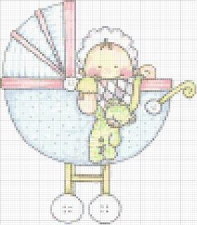 Agost01 Esquemas de Ponto Cruz com Bebés para crianças