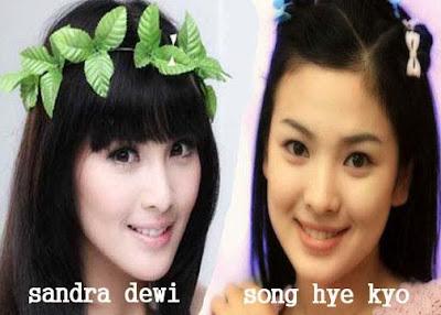 sandra+dewi+ +song+hye+kyo1 Wow!!! Artis Indonesia Yang Mirip Artis Korea