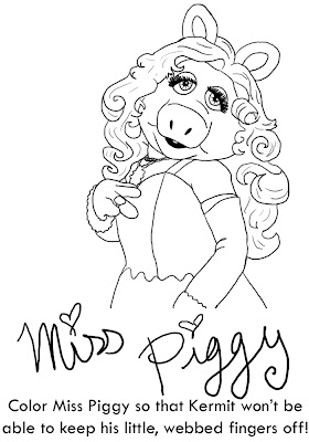 miss piggy and kermit coloring pages photo11