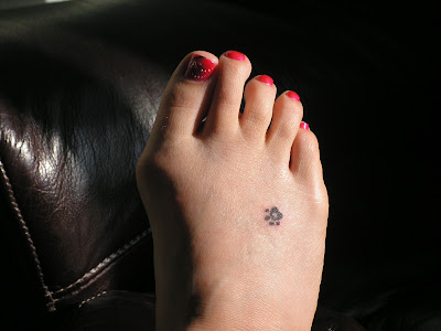 """I got a little paw print on my foot because we always called her a """"foot"""