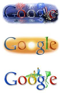 Google Doodle dan Google dengan Gambar Sendiri