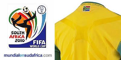Camisetas de Sudafrica para el Mundial 2010