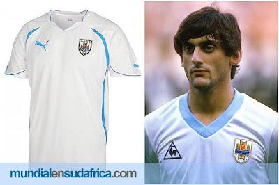 Camiseta Suplente Uruguay Mundial Sudáfrica 2010 PUMA Exclusivo!