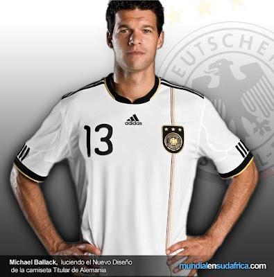 Camiseta de Alemania Mundial 2010 - Titular
