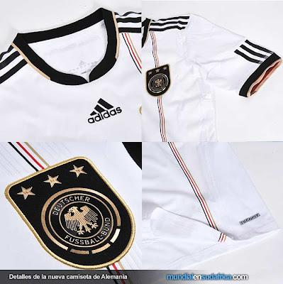Camiseta de Alemania Mundial 2010 - Detalles