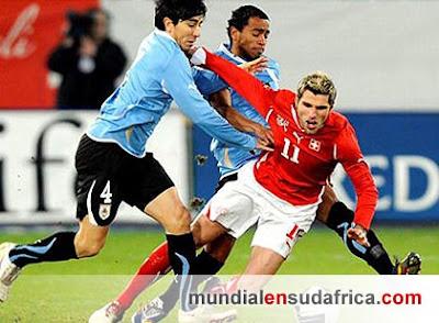 Uruguay venció 3 a 1 a Suiza
