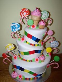 Candyland Birthday Cake on Cakes By Kristen H   Candyland Topsy Turvy Cake