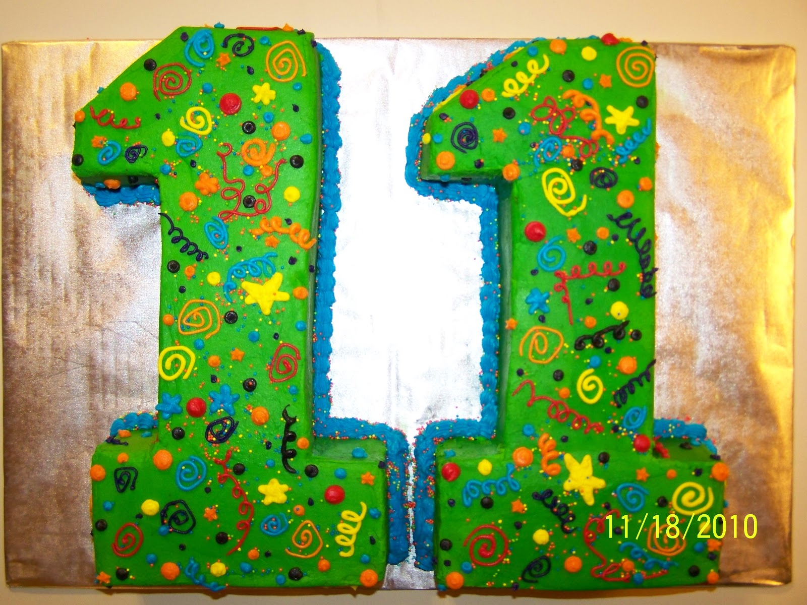 Cakes by kristen h number 11 cake for Number 1 decorations