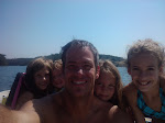 Bill and the girls on the boat