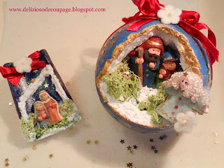 Delizioso d coupage sfere presepi e decorazioni di for Cose natalizie