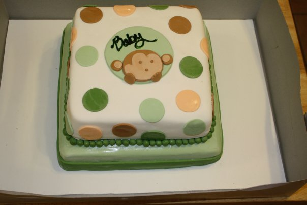 Katrina 39 s custom cakes monkey baby shower - Baby shower monkey theme cakes ...