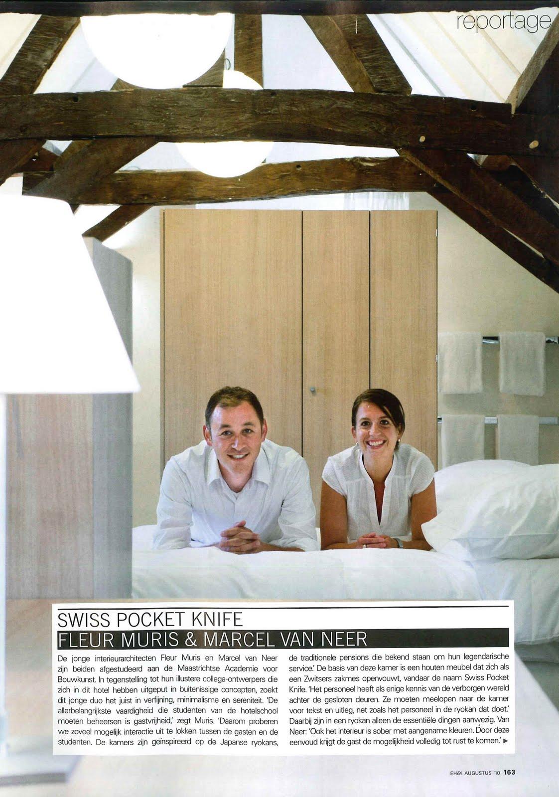 Fleur muris artikel hotelkamer in tijdschrift eigen huis for Abonnement eigen huis en interieur