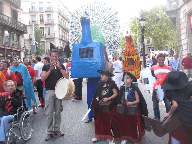 El Bestiari de Malla defensa el foc i el tro a la festa de cultura catalana