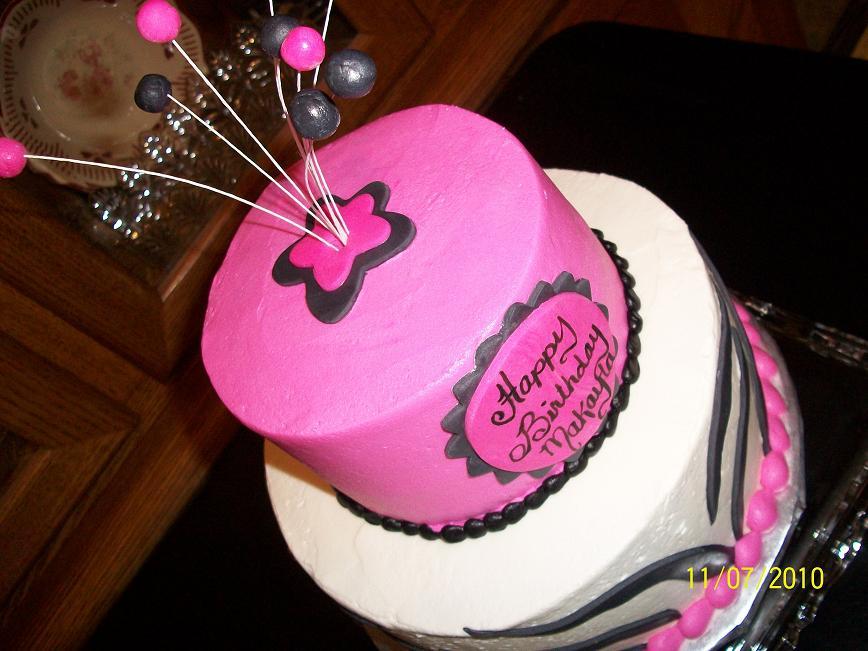 pink and white zebra cake. Hot Pink Zebra Stripes Cake