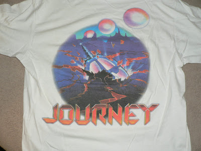 journey fan club shirt with Time 3 box set artwork