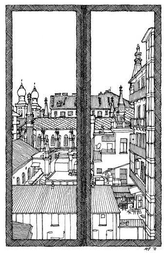 Torino dalla finestra for Disegno di finestra aperta
