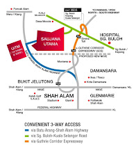 Map to Saujana Utama (Click for Bigger Image)