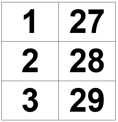 Flashcards Numbers 1 50 submited images   Pic2Fly