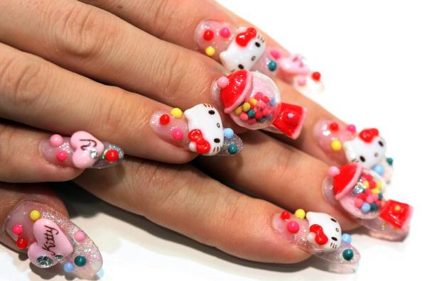 Japanese Nail Art Designs, 3D Nail Art, Acrylic Nail Art