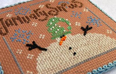 Календарь от Bent Creek, январь, вышивка крестом