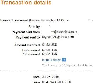 CashnHits PTC payment proof