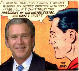 Superman meets George W. Bush