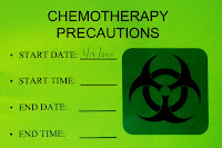 Wisconsin Hospital Chemotherapy Precaution Sign