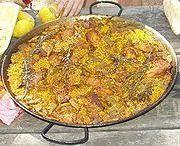 Paella Valenciana avec safran