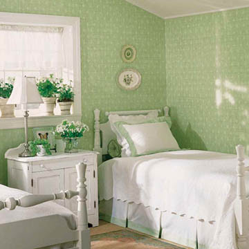 Modern Interior Design with Green Color Of Wall