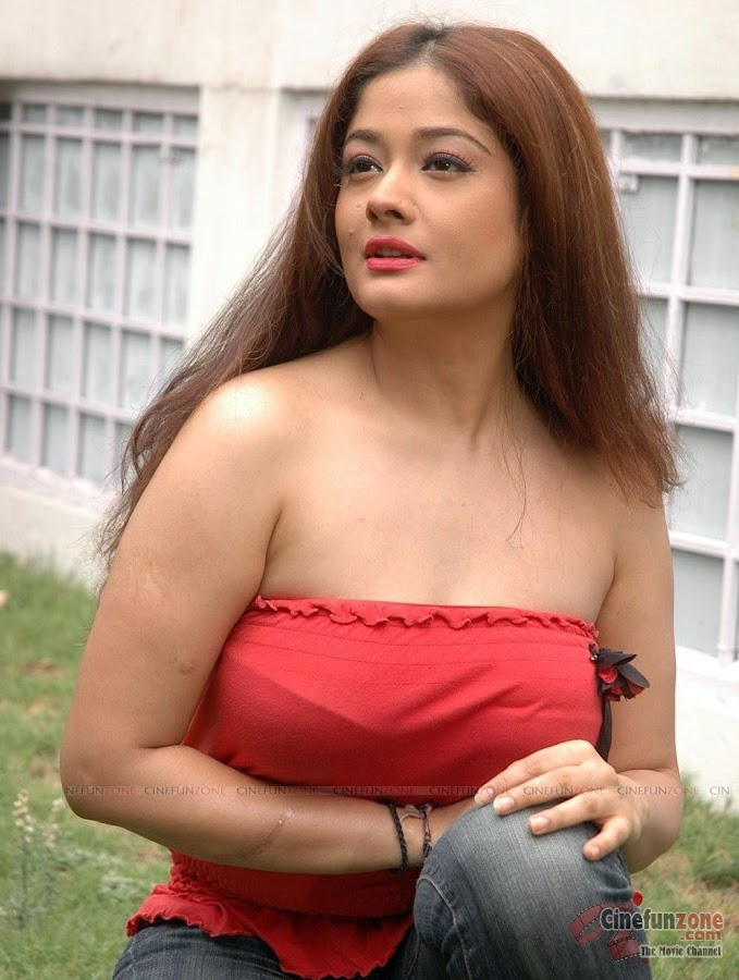 Actress Kiran Rathod Hot Red Dress Latest High Quality Stills
