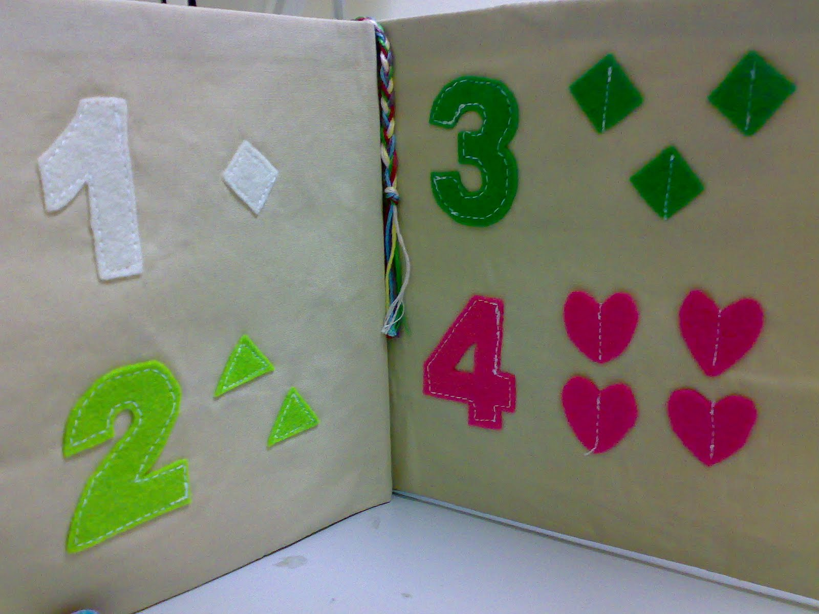 Cloth Book Covers For Sale : Color me pretty cloth book of felt numbers