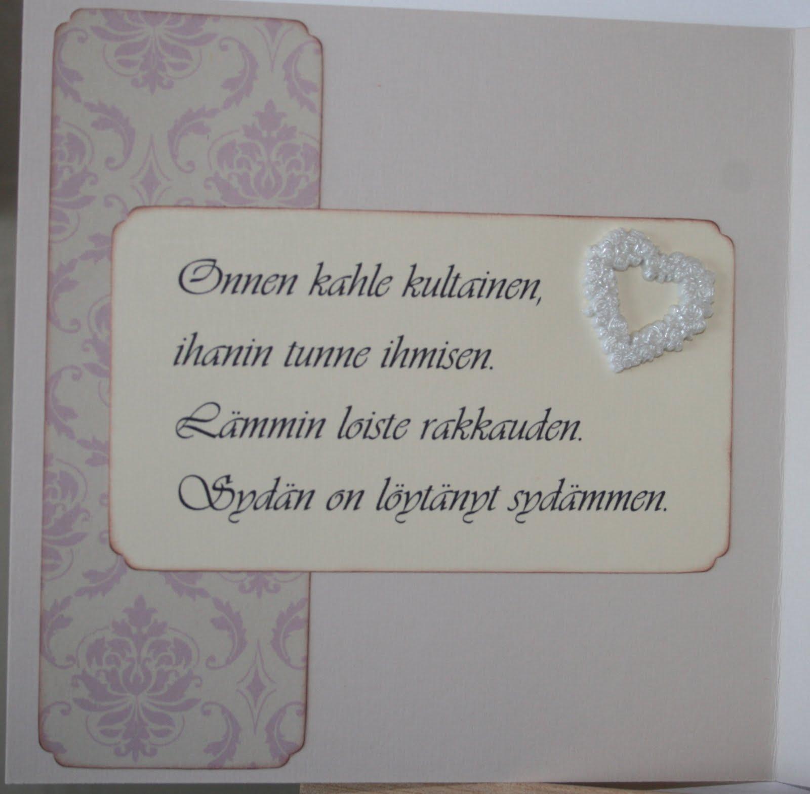 Bertinas scrapperier: Bryllupskort på bestilling;))