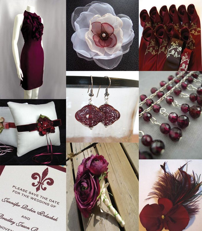 Inventing Weddings Etsy Handmade Wedding Inspiration Evening Fable Burgundy  Wedding Decorations