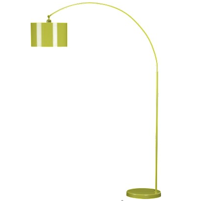 Green Bauhaus Arc Floor Lamp from cb2
