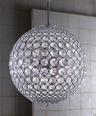 Tiffany Crystal Ball Chandelier from Horchow