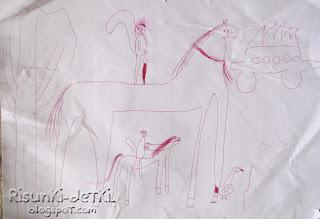 Детские Рисунки белочка лошадь животные зверюшки гелевая ручка