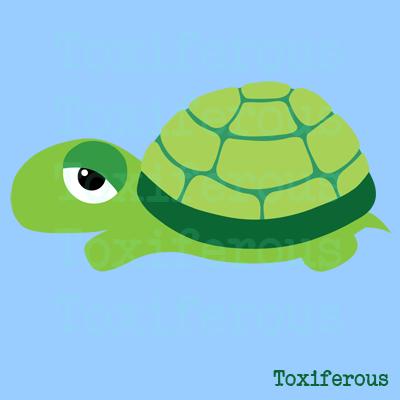 Cute cartoon turtle with big eyes - photo#5