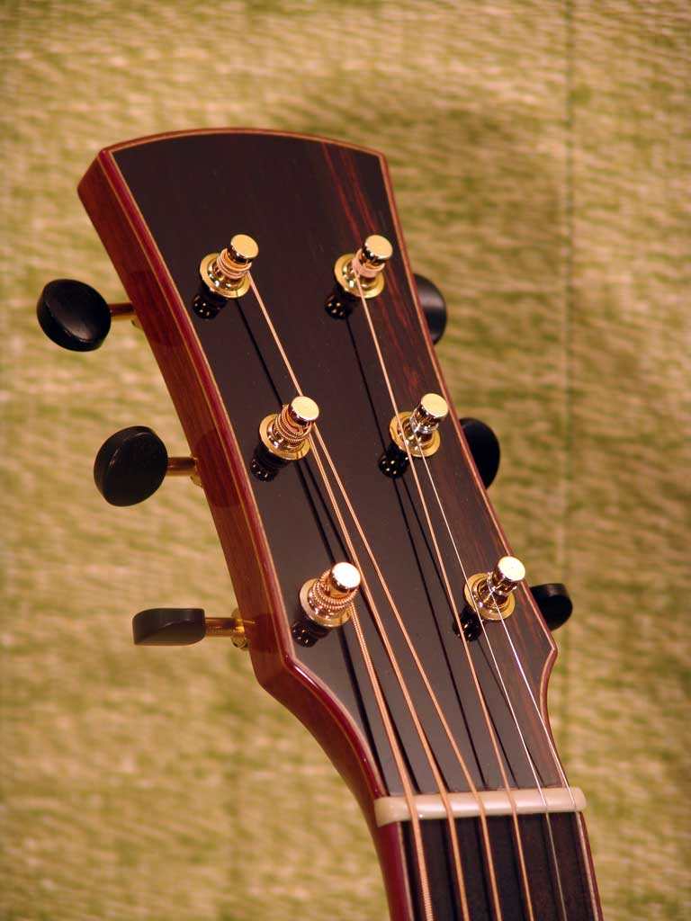 Laurent Brondel guitars headstock