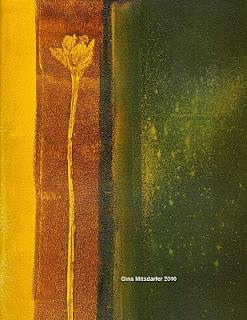 "Gina Mitsdarfer - Rain Lily, 9"" x 12"", acrylic on paper"