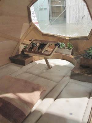 Inside Electric Camper Pod by Jay Nelson