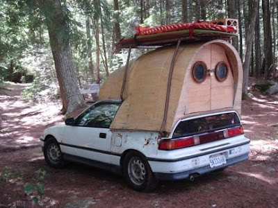 Wooden Car Camper by Jay Nelson