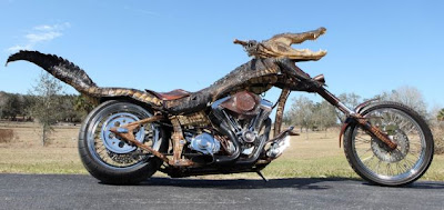 Gator Bike covered in Alligator skin to the rescue