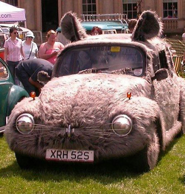 Furry VW Bunny Art Car