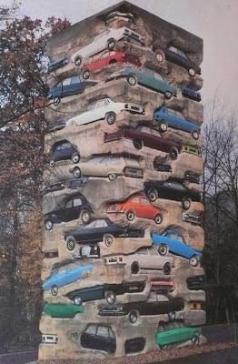 30 Cars Buried in Cement - Mafia Cubism