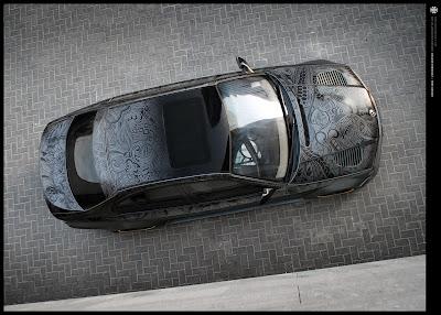 Dark BMW Sharpie Art Car by Travis Todd