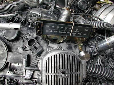 Space Junk Art Car Close Up