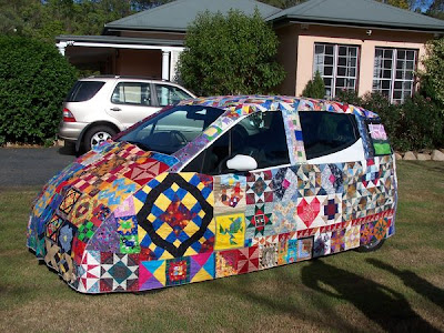 Quilted Art Car from Down Under